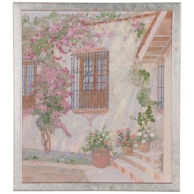 "William Benecke Oil Painting ""Facade, Riviera"""