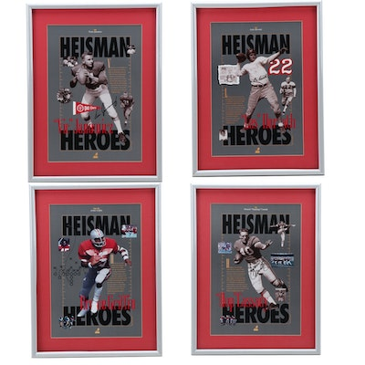 "Cassady, Horvath, Griffin, and Janowicz Auto Signed Framed OSU ""Heisman Heroes"""