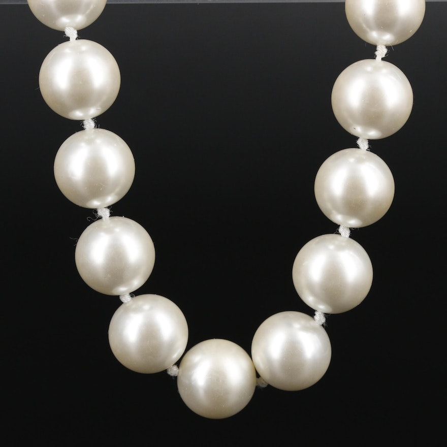Tommy Hilfiger Imitation Pearl Necklace
