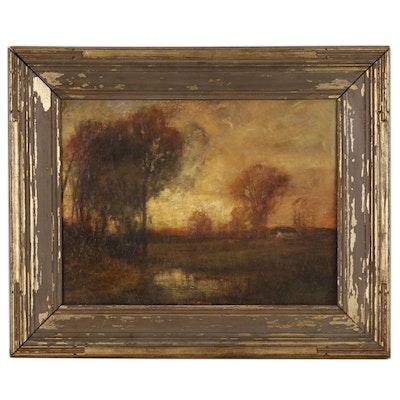 Charles P. Appel Tonalist Landscape Oil Painting