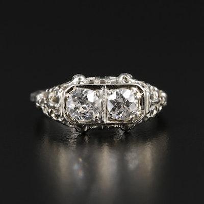 1930s 18K Gold Diamond Ring