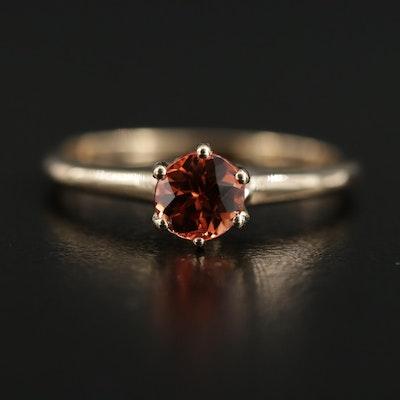 14K Yellow Gold Spessartine Garnet Ring