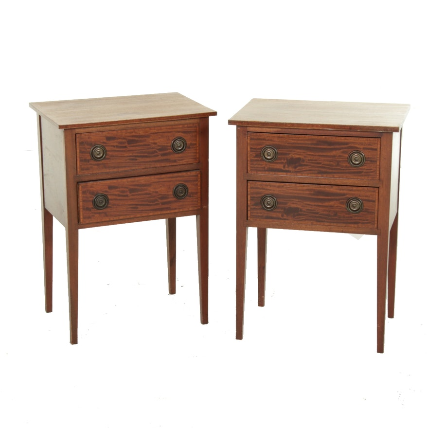 Pair of Federal Style Mahogany Nightstands