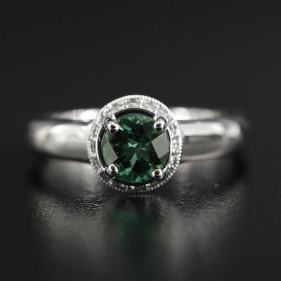 14K Gold Tourmaline and Diamond Ring