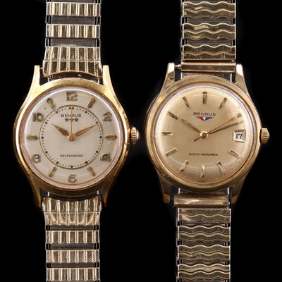 Pair of Vintage Benrus Stem and Self Winding Wristwatches