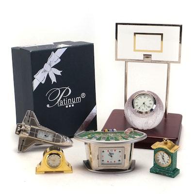 Novelty Miniature Clocks Featuring Frankenmurth Clock Co. Space Shuttle Clock