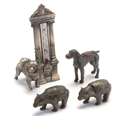 Souvenir Cast Iron Figurines of Historical Sites