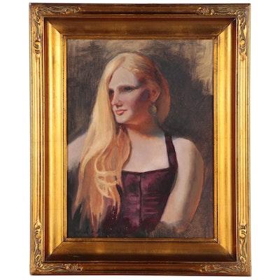 Nancy Whitman Oil Portrait Painting
