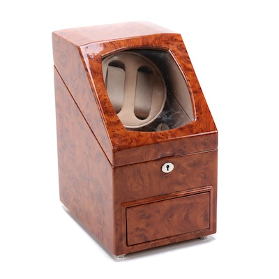 Automatic Watch Winder with Storage Drawer
