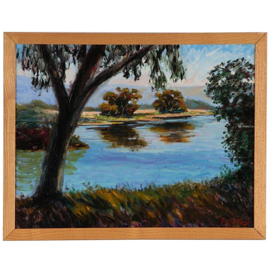 Philippe Mathieu Landscape Oil Painting, 2005