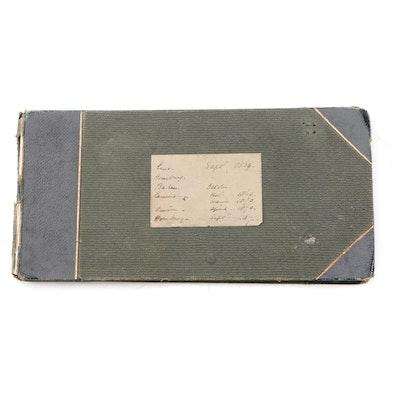 1869 - 1871 Original Sketchbook by Mabel Olivia Taylor