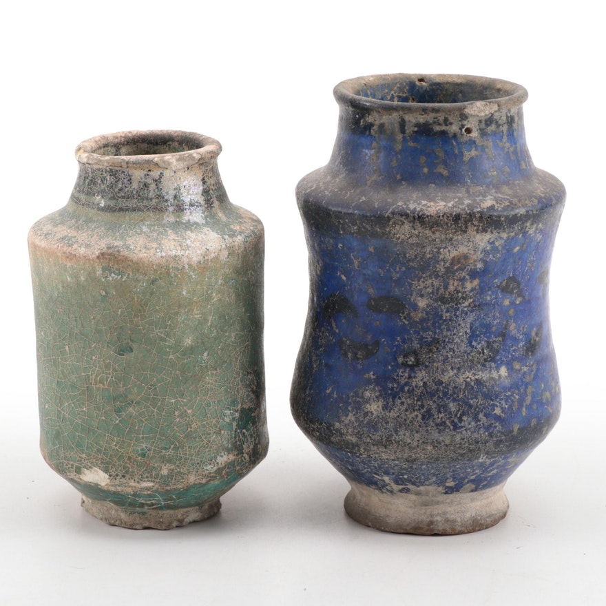 Two Indo-Persian Pottery Vessels