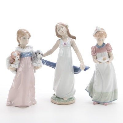 "Lladro ""Arms Full of Love"", ""Happy Birthday"" and ""Gentle Breeze"" Figurines"