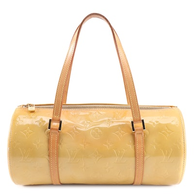Louis Vuitton Papillon Bag in Monogram Vernis and Vachetta Leather