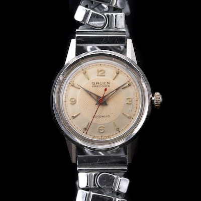 Vintage Gruen Veri - Thin Stainless Steel Bumper Automatic Wristwatch