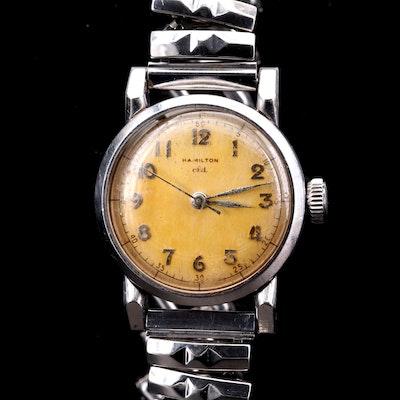 Vintage Hamilton Steeldon CLD Stainless Steel Stem Wind Wristwatch