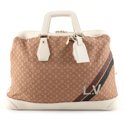 Louis Vuitton Initiales Isfahan Mini Lin Canvas and Leather Carryall