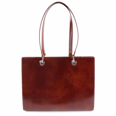 Cartier Panthere Brown Leather Shoulder Bag