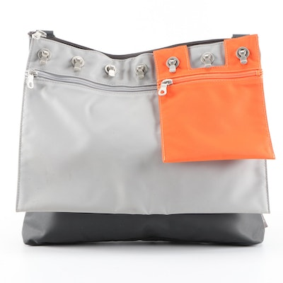 Sacrasac Grey and Orange Crossbody Bag