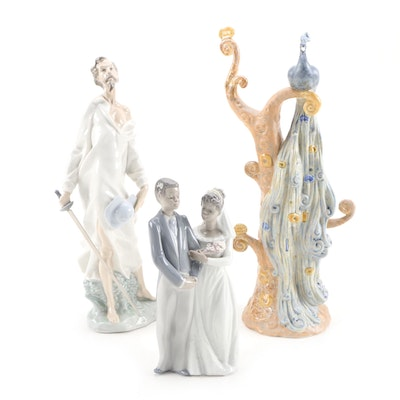 "Lladró Porcelain Figurines with Nao by Lladró ""A Vision of Don Quixote"" Figurine"