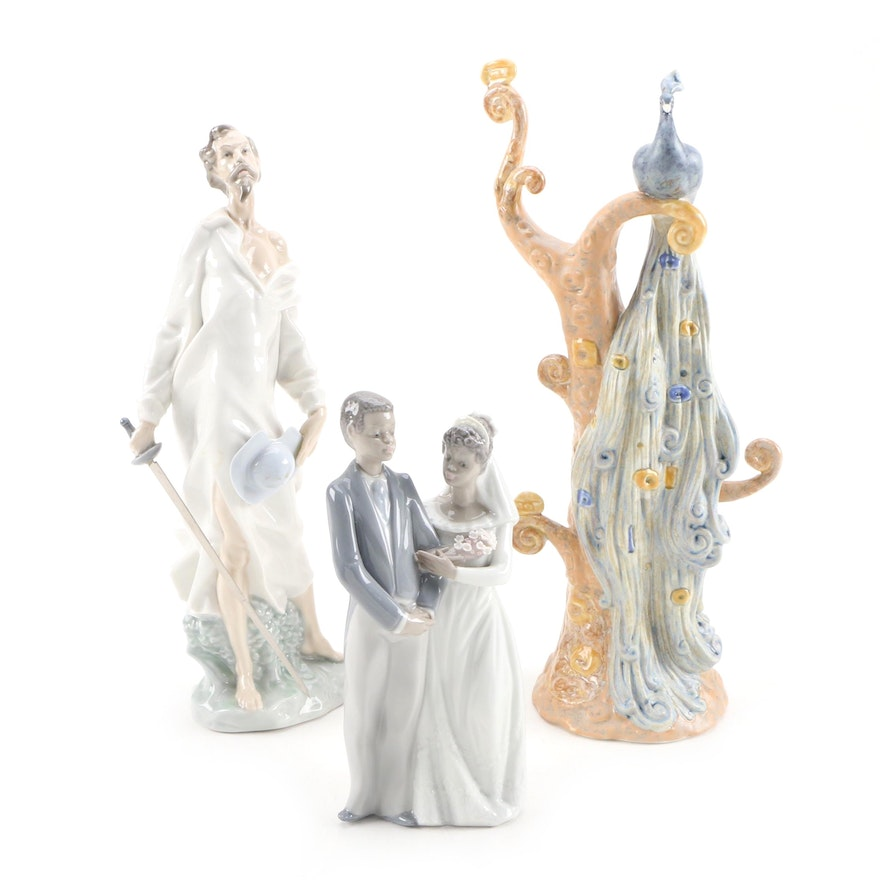 """Lladró Porcelain Figurines with Nao by Lladró """"A Vision of Don Quixote"""" Figurine"""