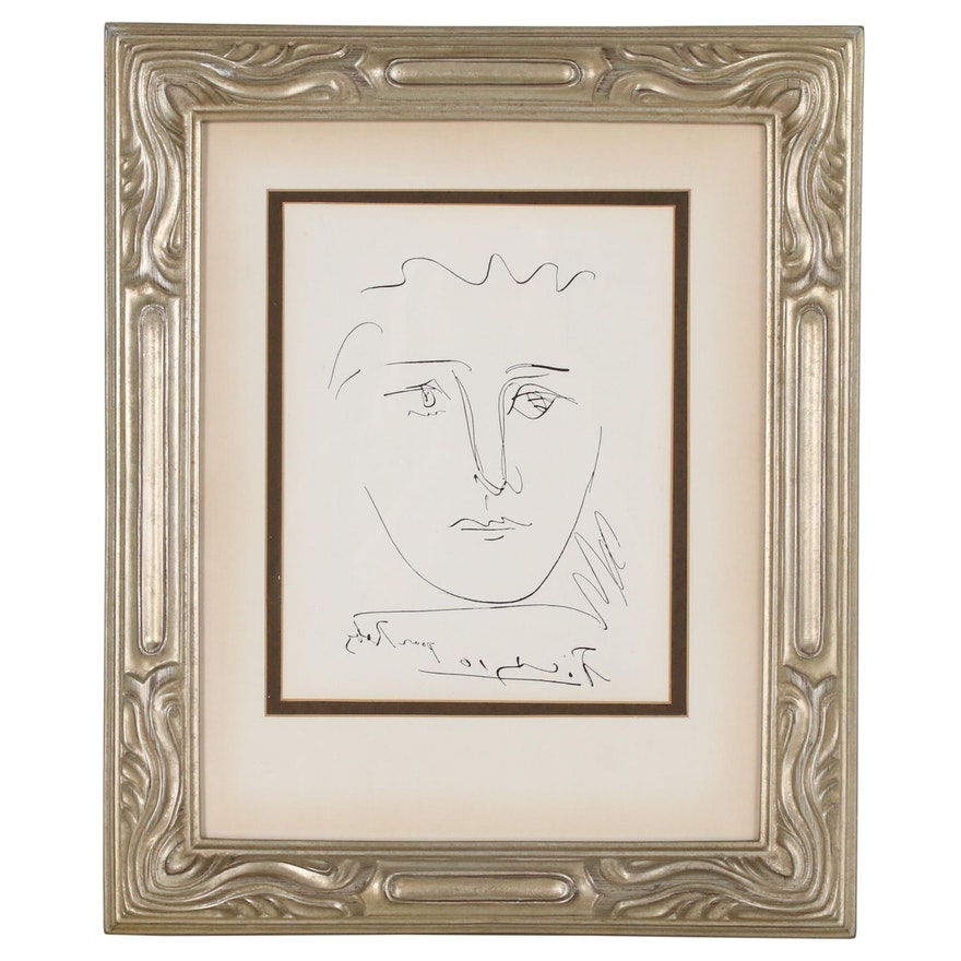 "Pablo Picasso Restrike Etching ""L' Age de Soleil"", Mid to Late 20th Century"