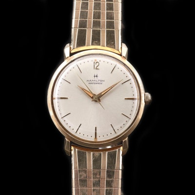Hamilton Masterpiece Gold Filled Stem Wind Wristwatch, Circa 1965