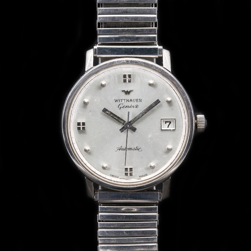 Wittnauer Stainless Steel Automatic Wristwatch With Date