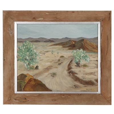 Marj Lee Desert Landscape Oil Painting