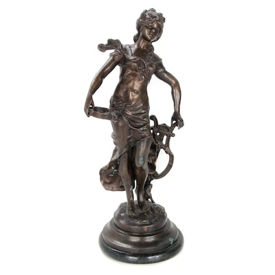 L. & F. Moreau Copper Allloy Sculpture