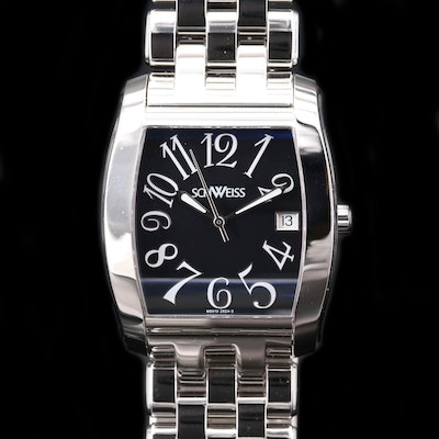 Schweiss Stainless Steel Automatic Wristwatch with Date