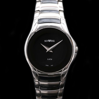 Schweiss Stainless Steel and Black PVD Wristwatch