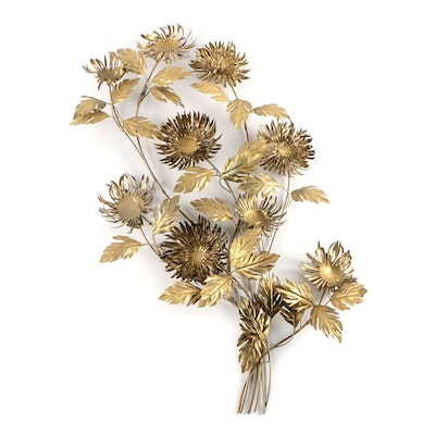 "Curtis Jere Metal ""Sunflower"" Wall Sculpture"