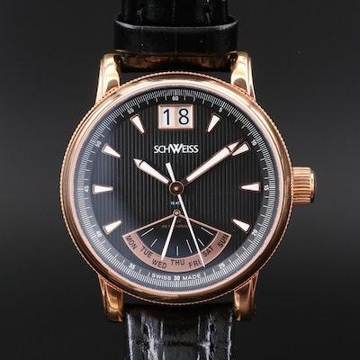 Schweiss Swiss Rose Tone Stainless Steel Wristwatch