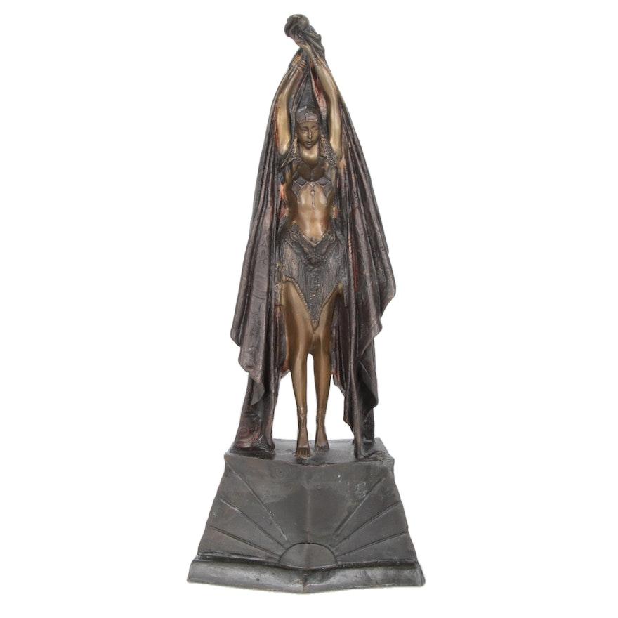 Art Deco Style Bronze Sculpture after Demétre Chiparus