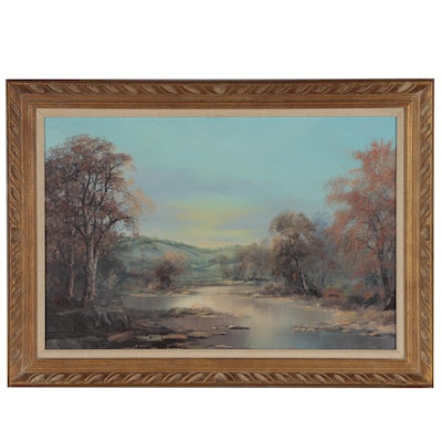 Jack J. Bryant Jr. Oil Painting of Western Landscape