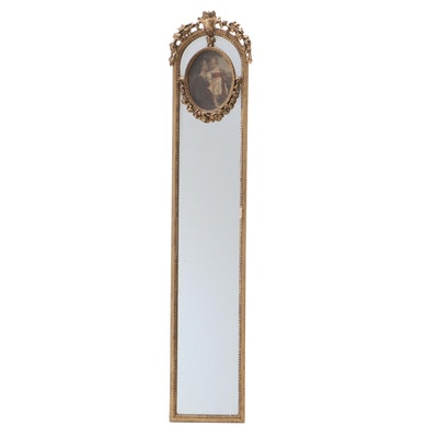 Victorian Giltwood Accent Mirror with Reserve of Mother and Child