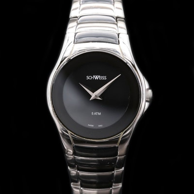 Schweiss Swiss Stainless Steel and Black PVD Wristwatch