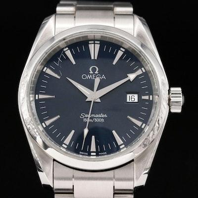 Omega Seamaster Aqua Terra Stainless Steel Wristwatch