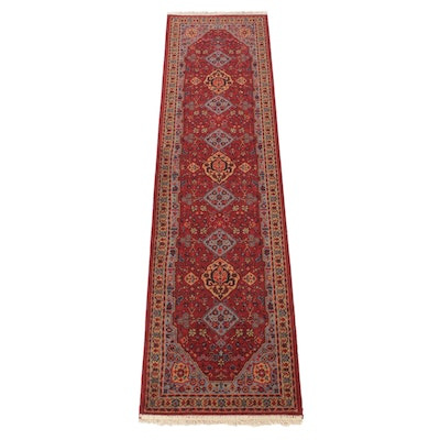 2'0 x 8'0 Power-Loomed European Persian Mashad Runner, 2000s