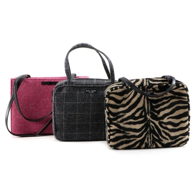 Kate Spade New York Flannel and Animal Print Faux Fur Handbags and Shoulder Bag
