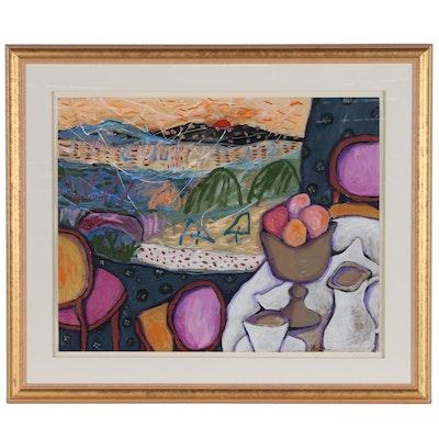 Michi Susan Abstract Mixed Media Painting