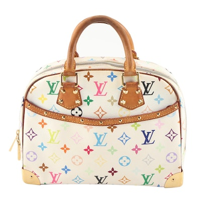 Louis Vuitton Trouville Top Handle Bag in Multicolore Monogram Canvas