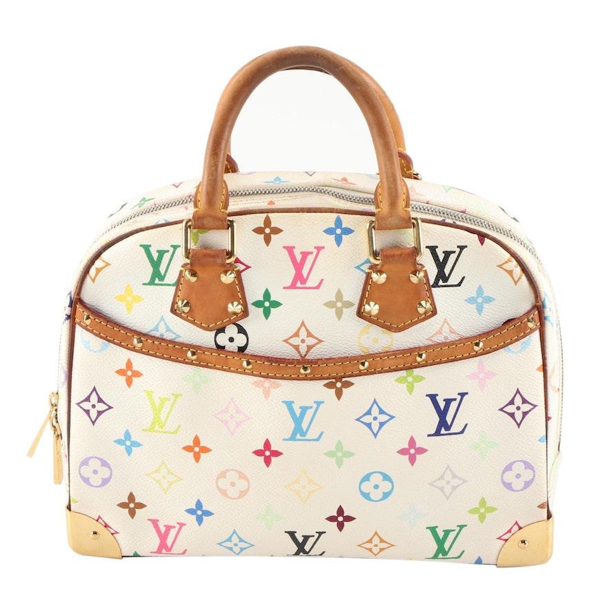 Louis Vuitton Trouville Top Handle Bag in Multicolore Monogram Canvas