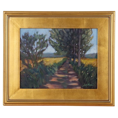"Jay Wilford Landscape Oil Painting ""Farm Lane"""