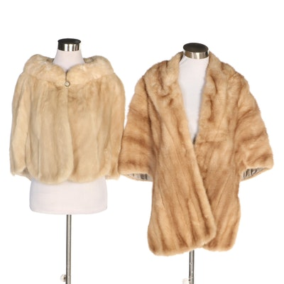 Mink Fur Capelet and Stole, Vintage