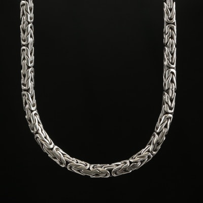 Sterling Silver Byzatine Chain Necklace