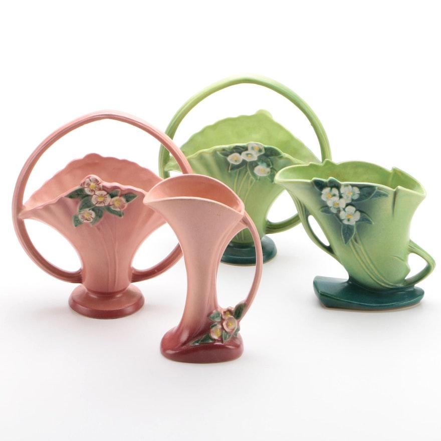 """Roseville Pottery """"Mock Orange"""" Baskets and Vases"""