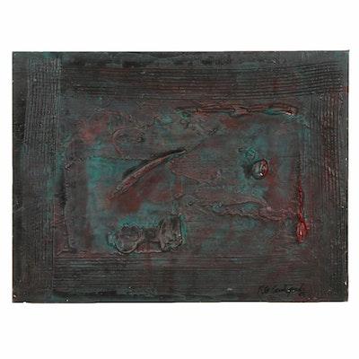 Robert Geno Centofanti Abstract Mixed Media Painting, 2005