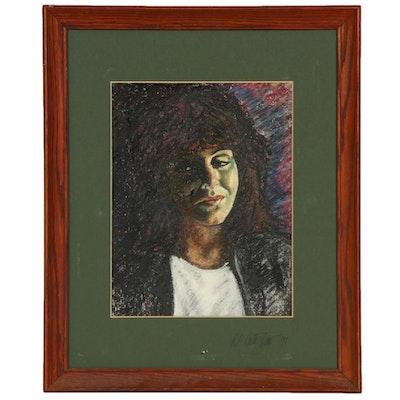 Robert Geno Centofanti Portrait of Woman Oil Painting, 1991